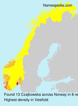 Familiennamen Czajkowska - Norway