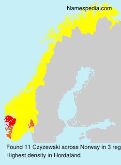 Surname Czyzewski in Norway