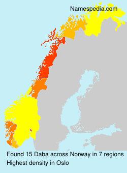 Familiennamen Daba - Norway