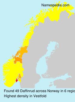 Surname Daffinrud in Norway