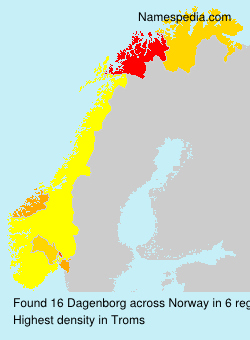 Surname Dagenborg in Norway