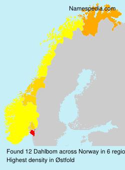 Familiennamen Dahlbom - Norway