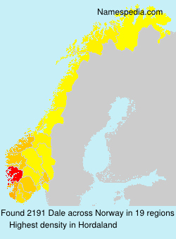 Surname Dale in Norway