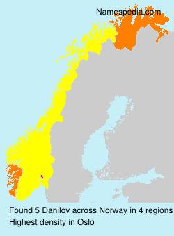 Familiennamen Danilov - Norway