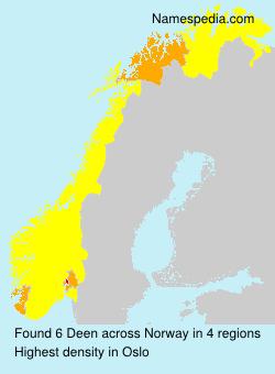 Surname Deen in Norway