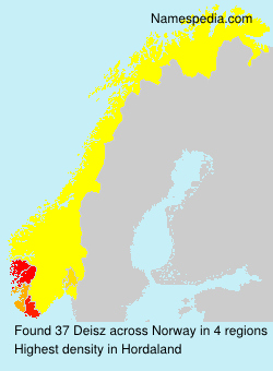 Surname Deisz in Norway