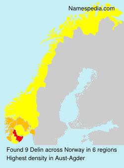 Surname Delin in Norway