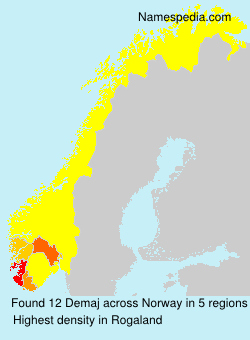 Surname Demaj in Norway