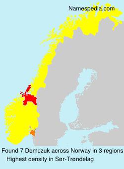 Familiennamen Demczuk - Norway
