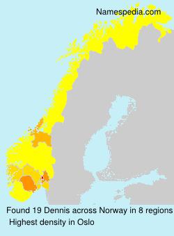 Familiennamen Dennis - Norway