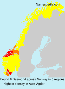 Surname Desmond in Norway
