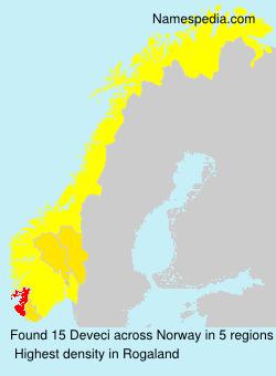 Familiennamen Deveci - Norway