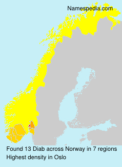 Surname Diab in Norway