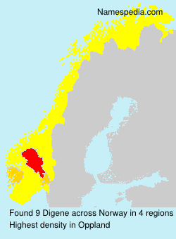 Surname Digene in Norway