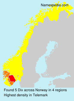Surname Dix in Norway