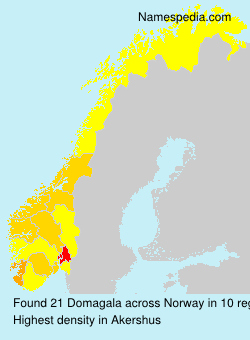 Surname Domagala in Norway