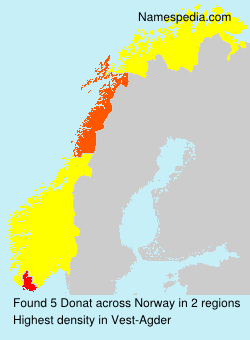 Surname Donat in Norway