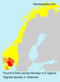 Surname Dore in Norway