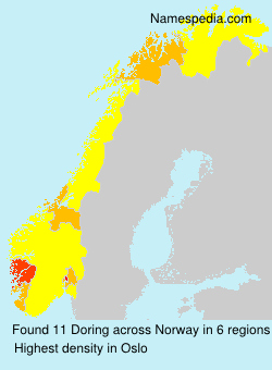 Surname Doring in Norway