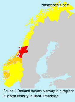 Surname Dorland in Norway