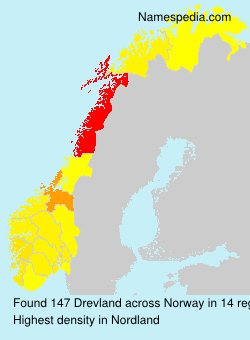 Surname Drevland in Norway