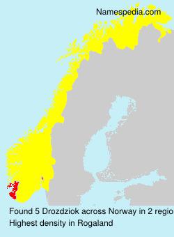 Familiennamen Drozdziok - Norway