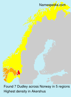 Surname Dudley in Norway