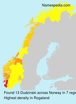 Surname Dudzinski in Norway