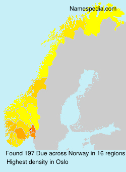 Familiennamen Due - Norway