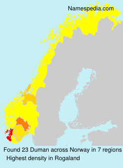 Surname Duman in Norway