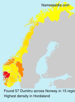 Familiennamen Dumitru - Norway