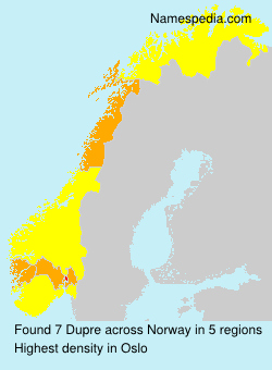 Surname Dupre in Norway