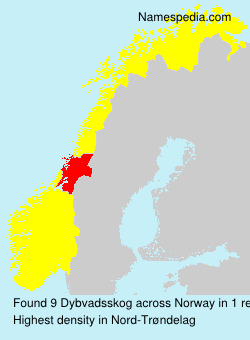 Surname Dybvadsskog in Norway