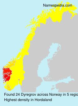Familiennamen Dyregrov - Norway