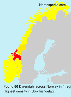 Surname Dyrendahl in Norway