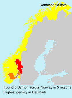 Familiennamen Dyrhoff - Norway