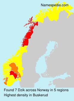 Surname Dzik in Norway