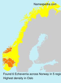 Surname Echeverria in Norway