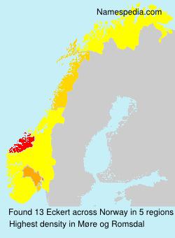 Surname Eckert in Norway