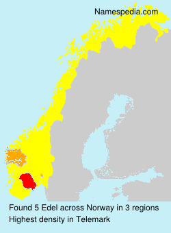 Surname Edel in Norway