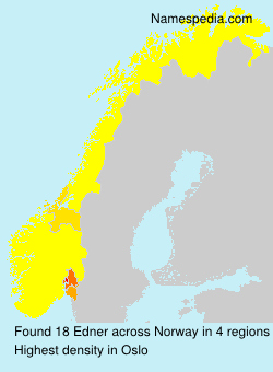 Surname Edner in Norway