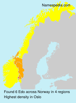 Surname Edo in Norway