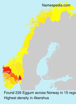Surname Eggum in Norway
