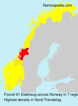 Surname Eidshaug in Norway
