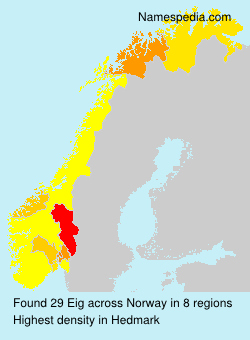 Surname Eig in Norway