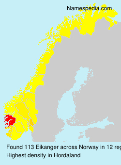 Surname Eikanger in Norway