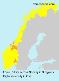 Surname Eini in Norway