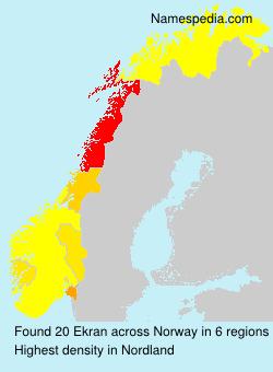 Surname Ekran in Norway