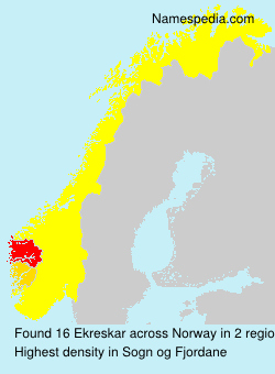 Surname Ekreskar in Norway