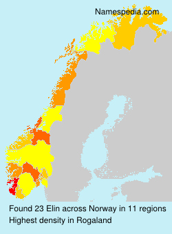 Surname Elin in Norway